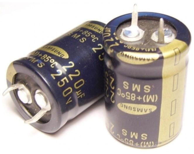 Конденсатор 220mkF x 250V