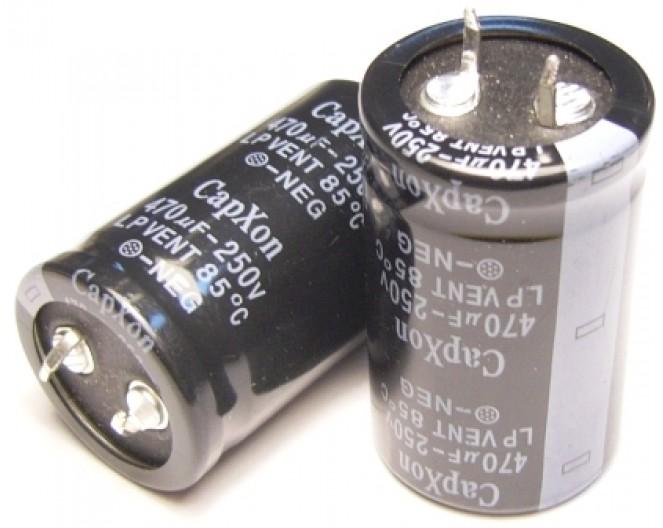Конденсатор 470mkF x 250V