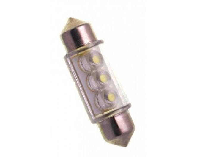 Автомобильная светодиодная лампа C5W, 36мм 3 Dip Led Синяя