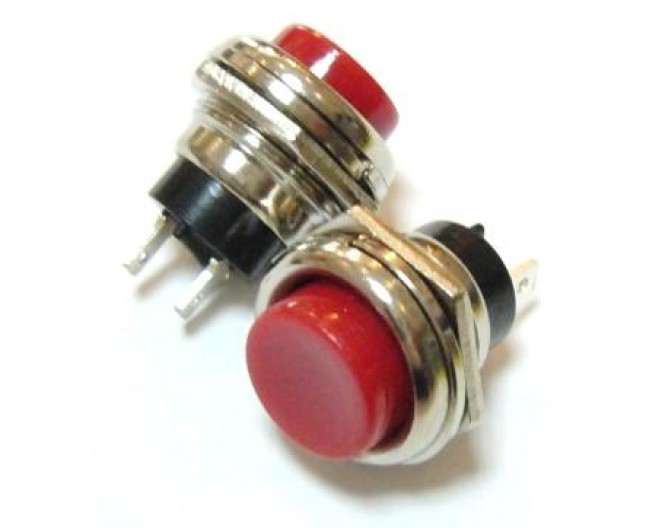 Выключатель кнопочный RWD-306D OFF-ON 250V/1A мет. (без фиксации на замыкание)