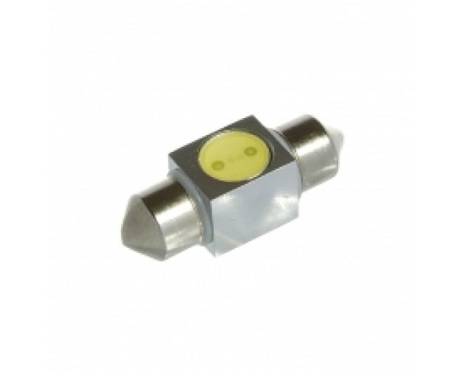 Автомобильная светодиодная лампа C5W, 31mm, 1W Белая