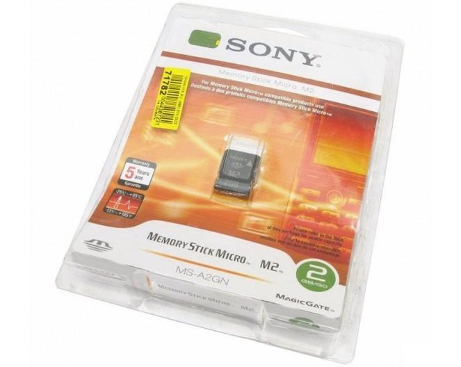 Карта памяти Memory Stick Micro [M2]  2Gb Sony MS-A2GN