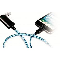 Шнур USB AM - microBM 0,9м светящийся