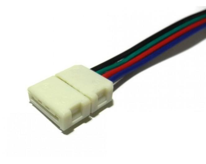 Коннектор для подключения не влагостойкой RGB ленты шириной 10мм с проводом
