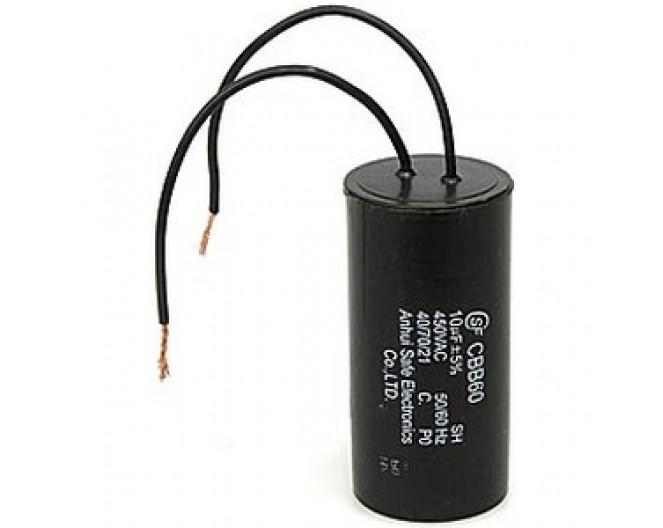 Конденсатор неполярный CBB-60 10 uf - 450v    (±5%)