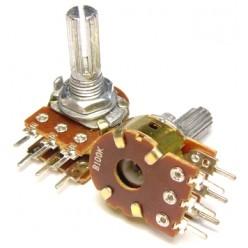 Потенциометр Резистор переменный стерео ( 2ряда ) 100 Ком