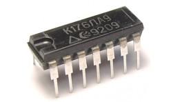 Микросхема К176ЛА9 (CD4023E)