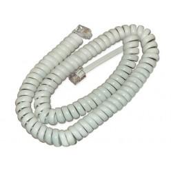 Шнур телефонный витой 4м белый