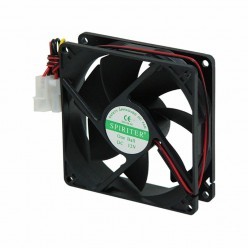 Вентилятор 12V 92x92x25 подш.