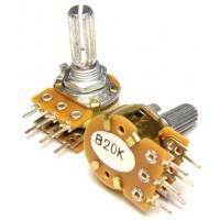 Потенциометр Резистор переменный стерео ( 2 ряда ) 20 Ком
