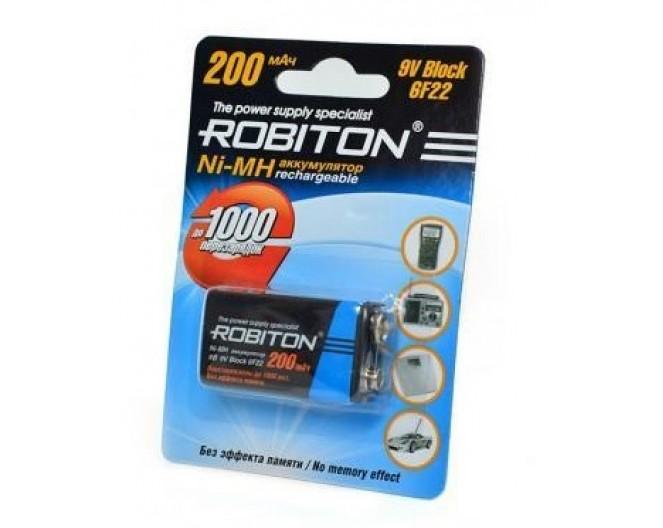 Аккумулятор 6F22 Robiton 200mA