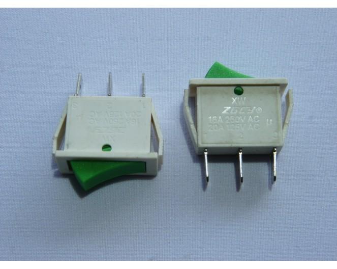 Выключатель клавишный 14мм ON-OFF 250V/15A белый