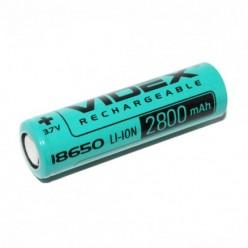 Аккумулятор 18650 VIDEX 2800mA 3,7V (с токовой отдачей - max до 8400mAh)