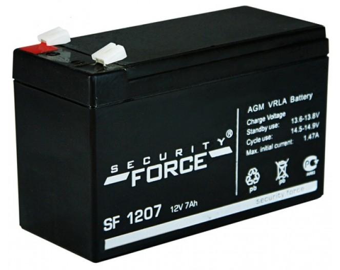 Аккумулятор 12V 7S Aч SECURITY FORCE