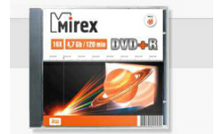 Диск DVD+R Mirex 4,7GB, 16x, SLIM-футляр (UL130013A1S)