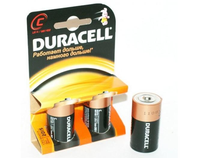 Батарейка R14 (343 элемент) Duracell Alkaline