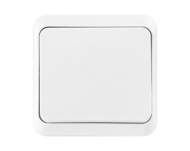 Выключатель настенный открытой установки 1-клавишный 10А белый