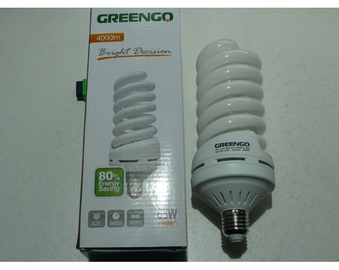Лампочки Энергосберегающие GREENGO Е-27 65wt (260Wt спираль, холодный свет) GO-1144