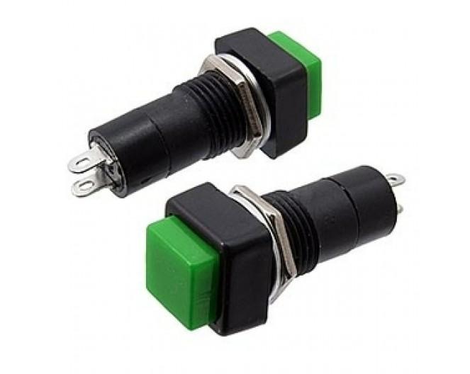 Выключатель кнопочный PBS-12B на замыкание 250V/1A квадратный красный