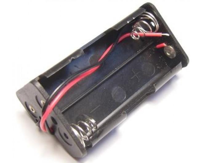 Держатель 2-х батареек AA