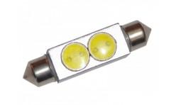 Автомобильная светодиодная лампа C5W, 39mm, 2х1W Белая