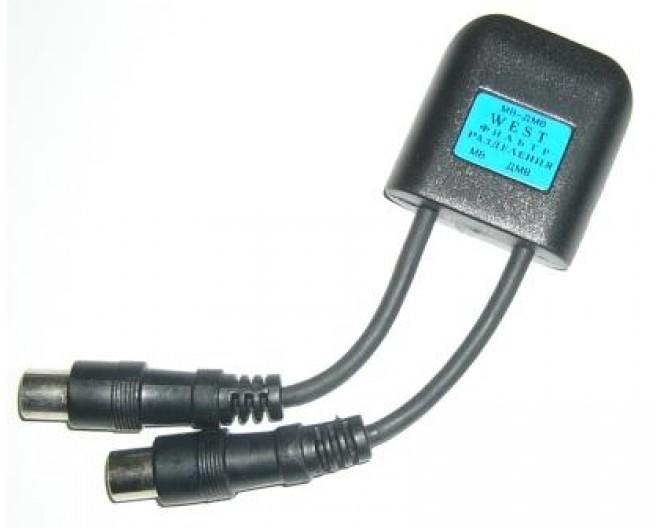 Диплексер антенный с 1 источника на 2 гнезда МВ и ДМВ