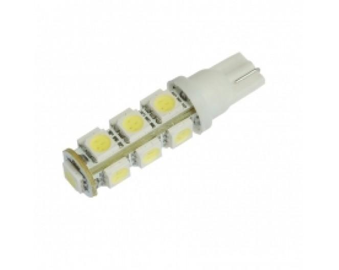 Автомобильная светодиодная лампа T10, 13pcs smd 5050 Белая