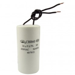 Конденсатор неполярный CBB-60 16 uf - 450v    (±5%)