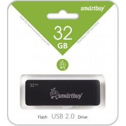 Память USB 2.0 32 GB SmartBuy Dash Black (SB32GBDH-K)