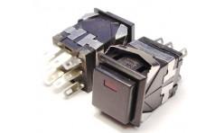 Выключатель кнопочный квадратный OFF-ON 250V/3A  (без фиксации на замыкание)