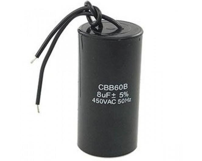 Конденсатор неполярный CBB60-L 8 uf - 450v    (±5%)
