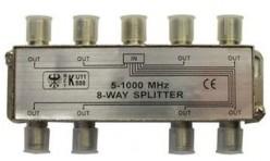 Делитель ТВ сигнала на восемь ТВ приемников с проходом питания на все порты
