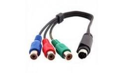 Переходник mini DIN 7 pin штекер - 3 RCA гнезда RGB