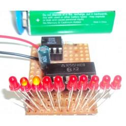 Радиоконструктор 025 - Бегущий светодиод