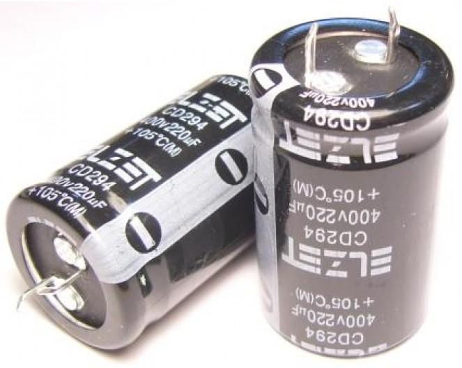 Конденсатор 220mkF x 400V 105*C