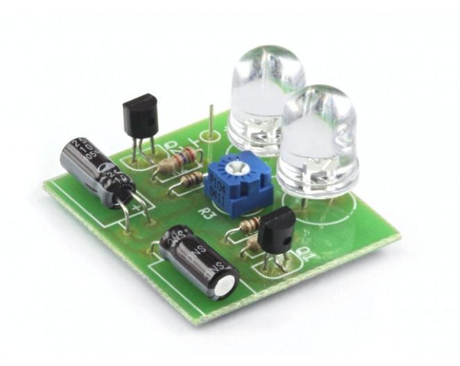 Радиоконструктор K122 (мультивибратор-мигалка,2светодиода)