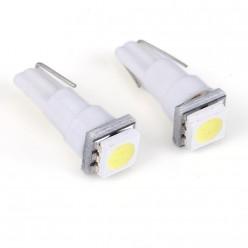 Автомобильная светодиодная лампа T5, 1pcs smd 5050 Белая