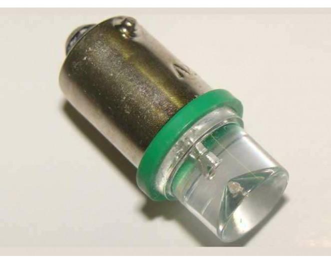 Автомобильная светодиодная лампа BA9S, 1pcs Зеленая