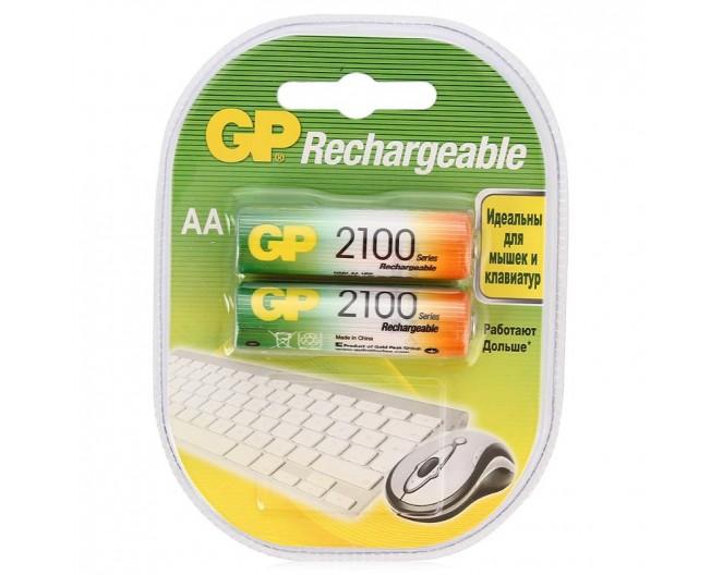 Аккумулятор AA GP 2100mA (2шт) GP210AAHC