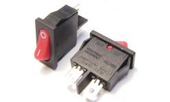 Выключатель клавишный малый узкий 220В