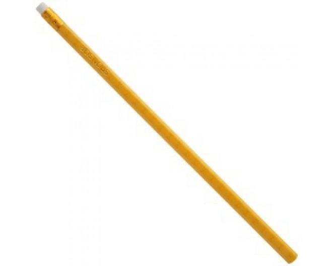 Карандаш ч/г желтый корпус шестигр., дерев., HB, с ластиком, не заточенный