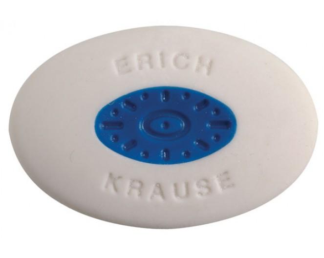 Ластик E.Krause SMARTSOFT 57х34х13мм, термопластик, овал.с центровкой, белый
