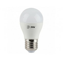 Лампа ЭРА LED A60 Е27, 10w, 4000К, шар матовый (A60-10w-842-E27)