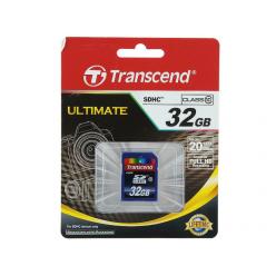 Карта памяти SDHC [класс  10] 32 GB Transcend (TS32GSDHC10)