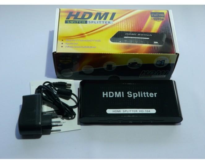 Делитель HDMI HD102 ( 1 вход => 2 выхода) ver.1.3