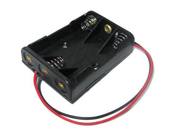 Держатель 3-х батареек AA .