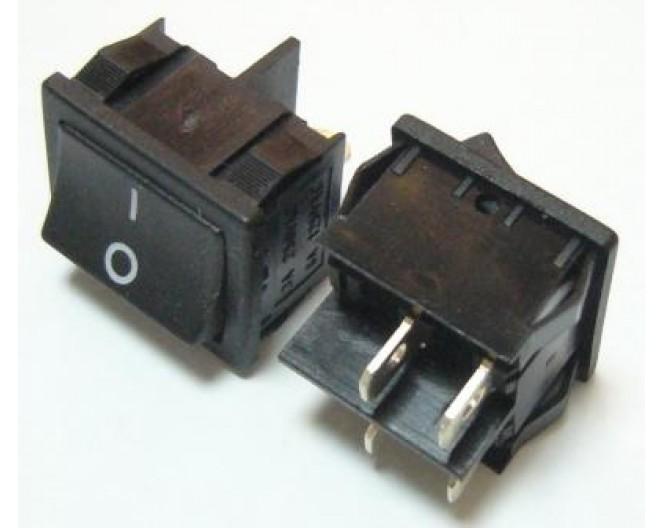 Выключатель клавишный широкий ON-OFF 220В