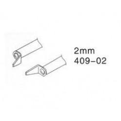 Насадка 409-02 (2mm) для термопинцета ZD-409 (цена за комплект)