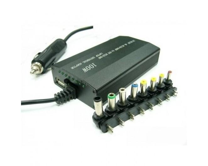 Зарядное устройство для ноутбука 12V - 24V 120W сетевой и авто + USB порт (5V, 1A) MEIND120W