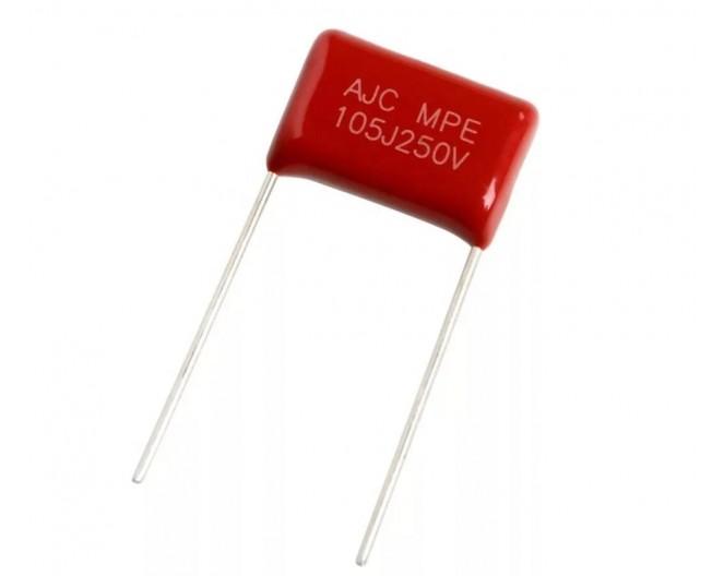 Конденсатор неполярный CL21 1Мкф x 250в (К73-17) 105J